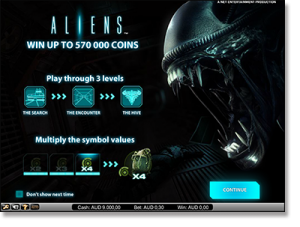 Play Aliens Internet video slot for real money