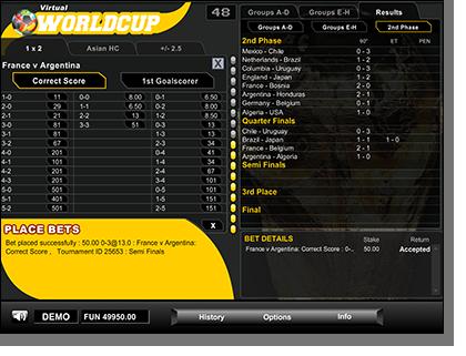 Virtual World Cup Bet Slip
