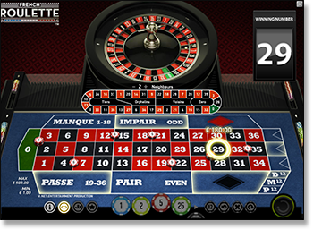 Play French Roulette online for real money