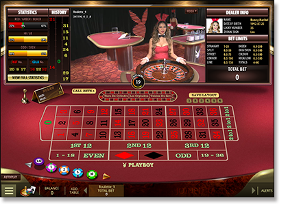Microgaming Live dealer Playboy Bunny roulette online