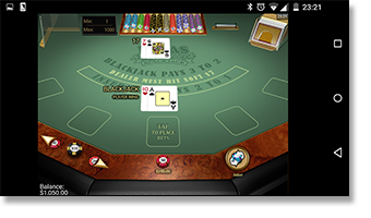 Play Vegas Single Deck 21 on mobile and computer