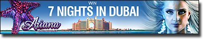 Win a holiday trip to Dubai by betting online at Roxy Palace