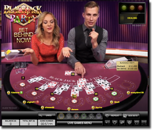 Evolution Gaming - Blackjack Party live dealer