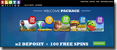 Slots Million welcome package for AUD players