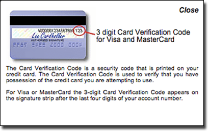 Visa credit and debit card deposit security