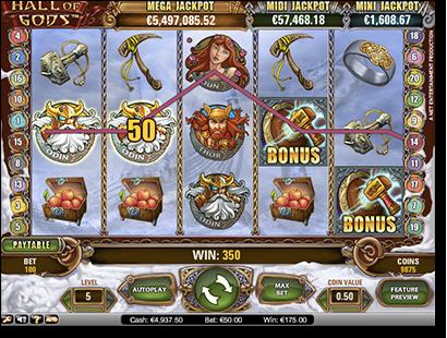 Hall of the Gods progressive jackpot slots