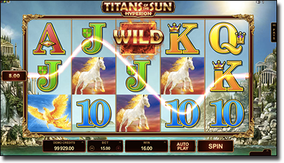 Titans of the Sun Hyperion slots by Microgaming