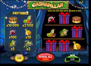 Cashapillar online instant scratchies