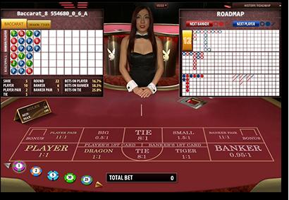 Live dealer Playboy Bunny baccarat online