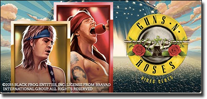 Guns 'N Roses online pokies available at Leo Vegas Casino
