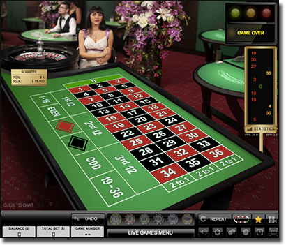 Evolution Gaming live dealer roulette