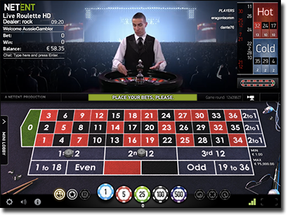 NetEntertainment live dealer roulette