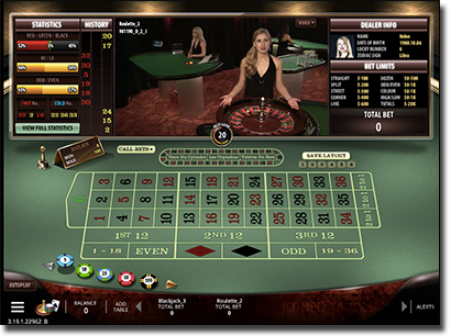 Microgaming's Playboy Bunny live dealer roulette