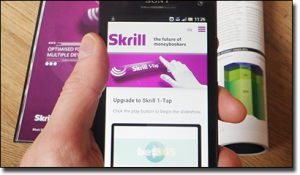 Skrill 1-Tap mobile casino deposit option