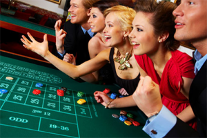 Social play at live casino venues