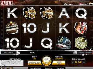 Scarface by NetEnt - online pokies based on popular film