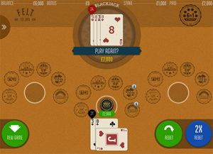 Felt 6 in 1 Blackjack online