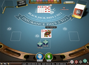 blackjack single deck medium netent