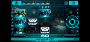 Aliens mobile pokies game